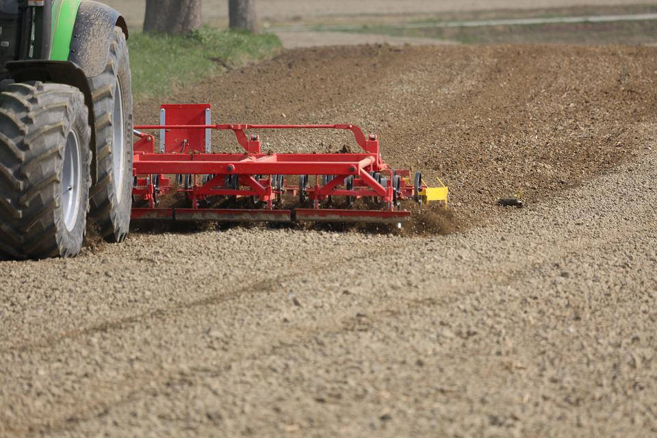 Tractor, Field, Harrow, Agriculture, Landscape, Arable
