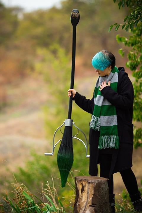 Harry Potter, Hogwarts, Magic, Broom, Nimbus, Slytherin