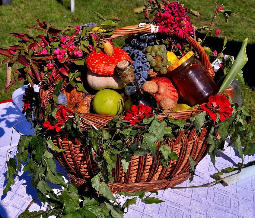 Fruit Basket Fruits Harvest Vegetables