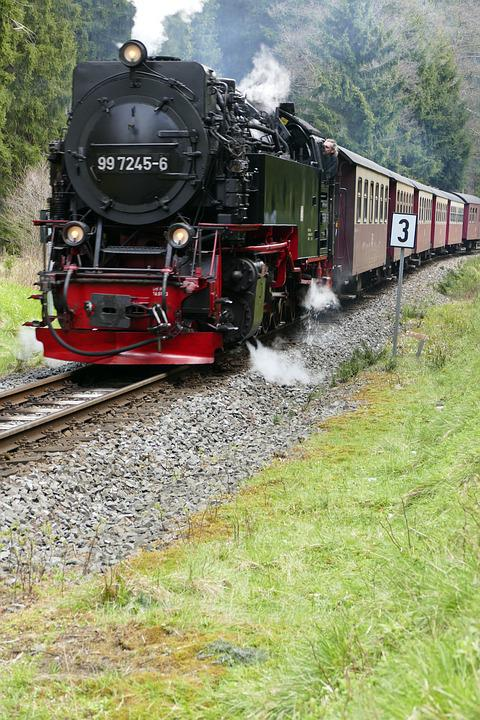Narrow Gauge, Harzquerbahn, Nature, Forest, Steam, Loco