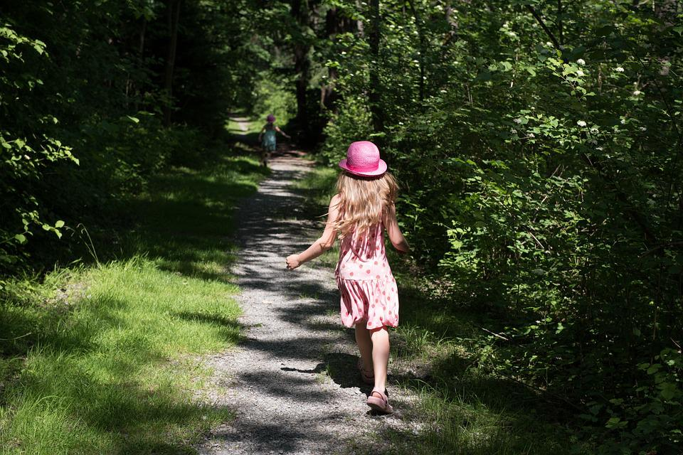 Person, Human, Child, Girl, Hat, Run, Race, Forest Path
