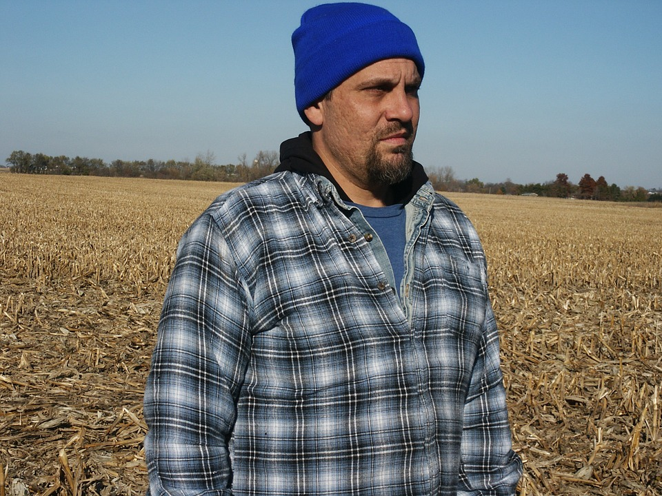 Man, Adult, Cornfield, Male, Hat, Countryside, Farm