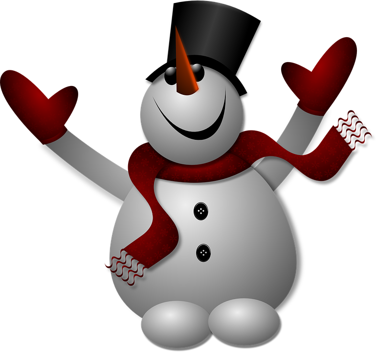 Snowman, Noel, Chapeau, Christmas, Gloves, Happy, Hat