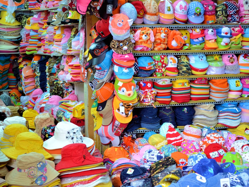 Market, Caps, Vietnam, Hat, Shop