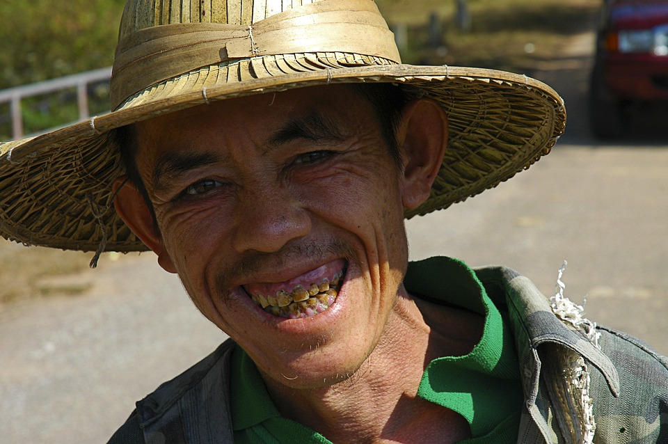 Old Man, Hat, Thailand