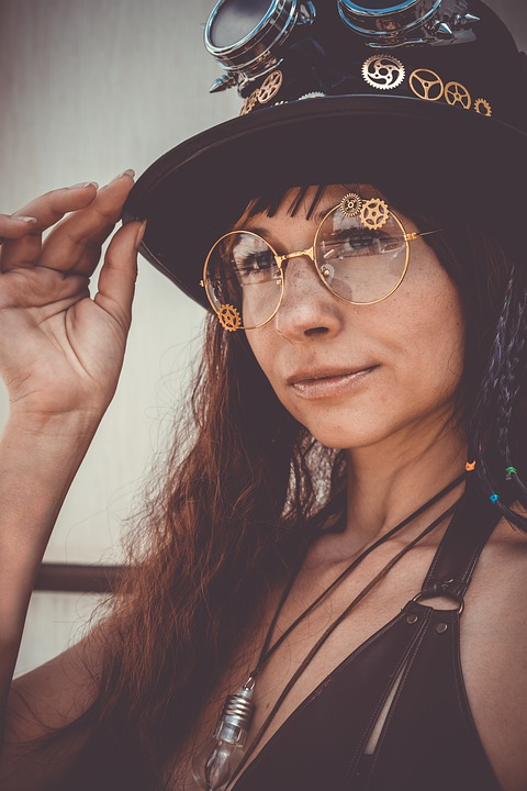 Steampunk, Hat, Glasses, Steam-punk, Punk, Victorian