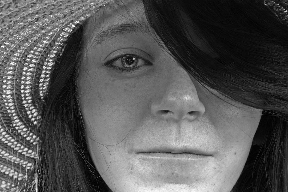 Hat, Woman, Hair