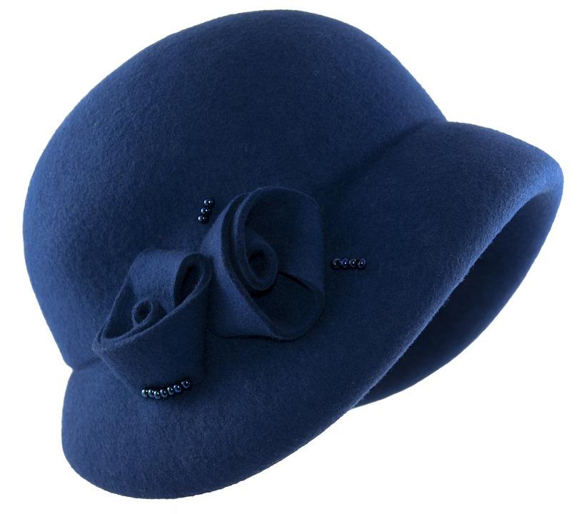 Hat, Cap, Headgear, Felt, Hat Blue, Hat Womens