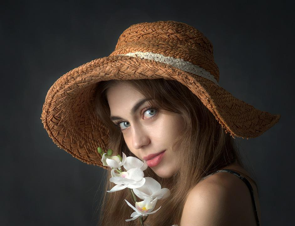 Free Photo Hat Young Look Woman Portrait Girl Flower Max Pixel