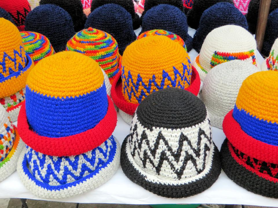 Ecuador, Otavalo, Hats, Traditional, Market
