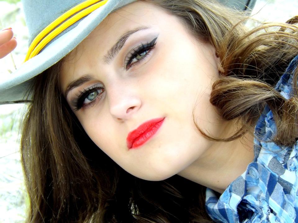 Cowgirl, Wild West, Girl, Hats, Portrait