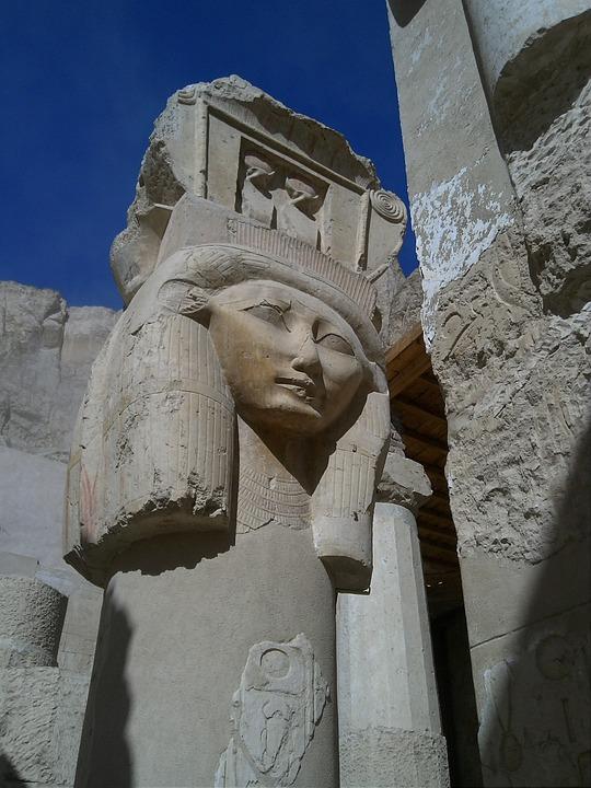 Hartor, Egypt, Temple, Statue, Hatshepsut, Pillar, Holy