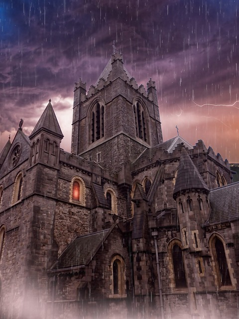 Cathedral, Haunted Cathedral, Haunted House, Gothic