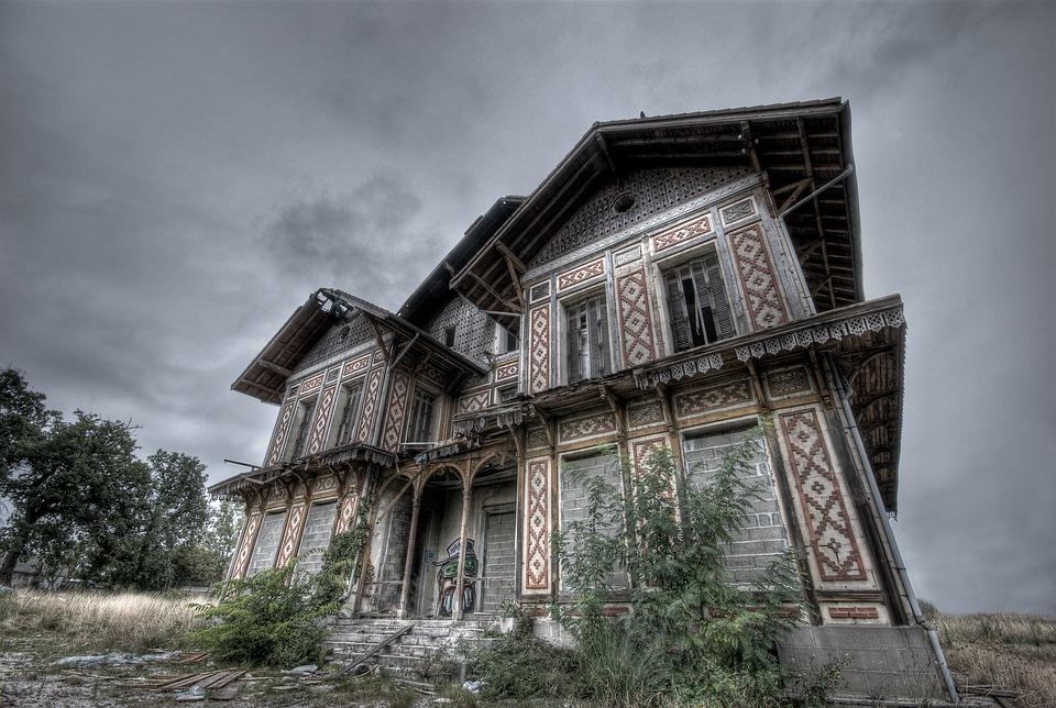 House, Abandoned, Haunted, Manor, Ghost, Isolated Form