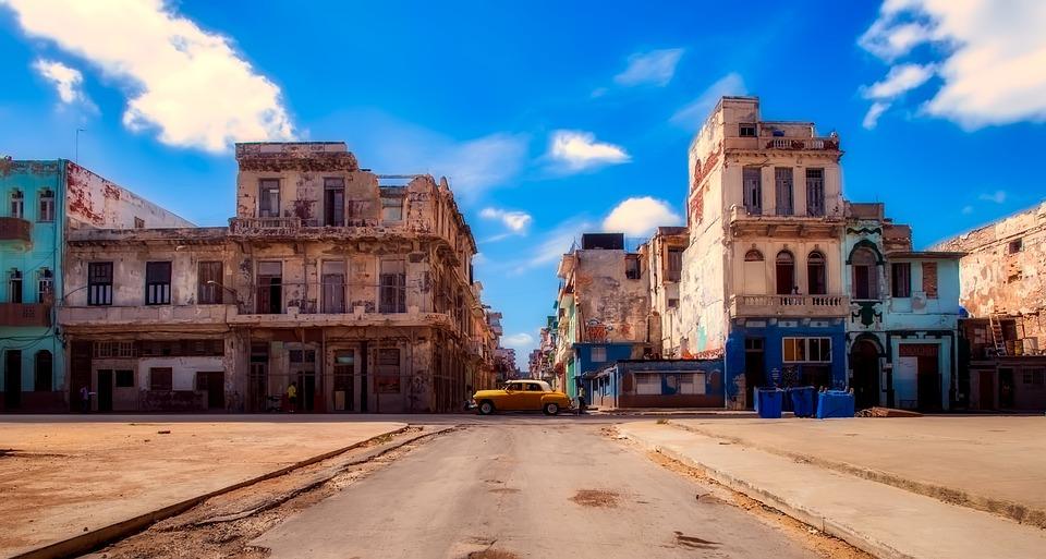 Havana, Cuba, Panorama, Car, Auto, Old, Antique