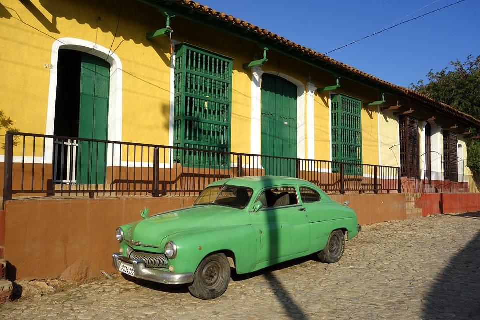 Cuba, Havana, Trinidad, Auto, Oldtimer, Sun, Caribbean
