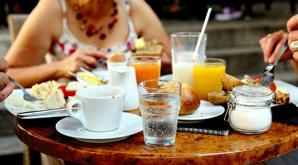 Breakfast, Have Breakfast, Eat, Cafe, Water Glass, Food
