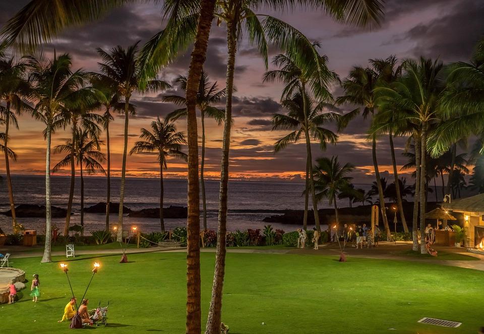 Sunset, Hawaii, Colorful, Tropical, Beach, Ocean