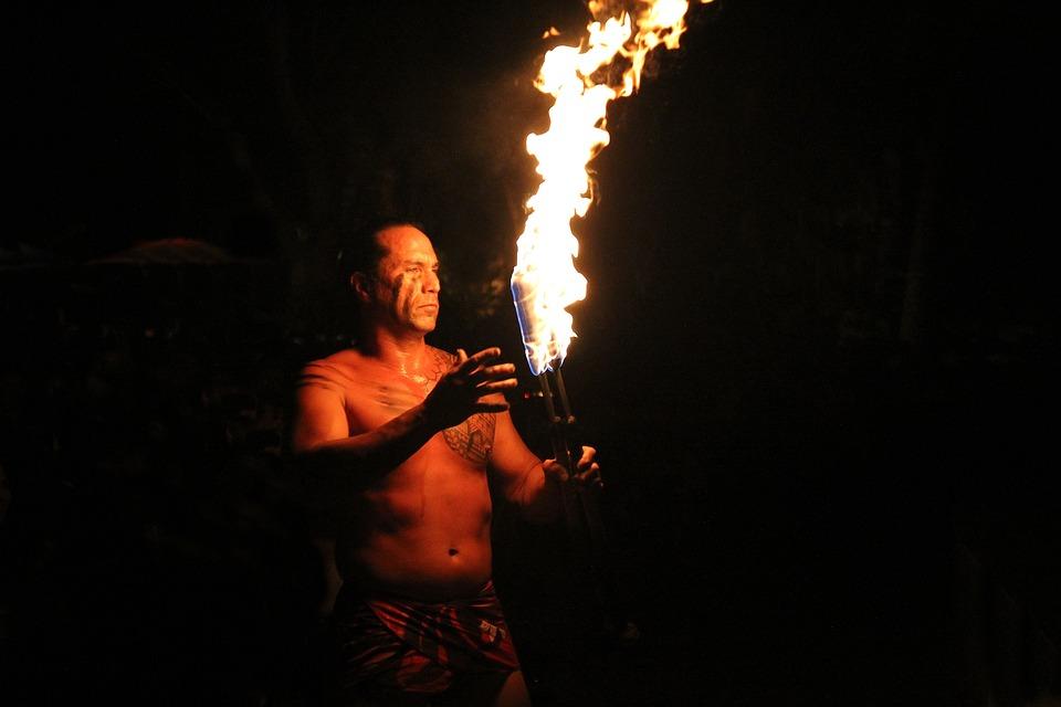 Hawaii Fire Dance, Flame, Hawaii, Fire, Dance