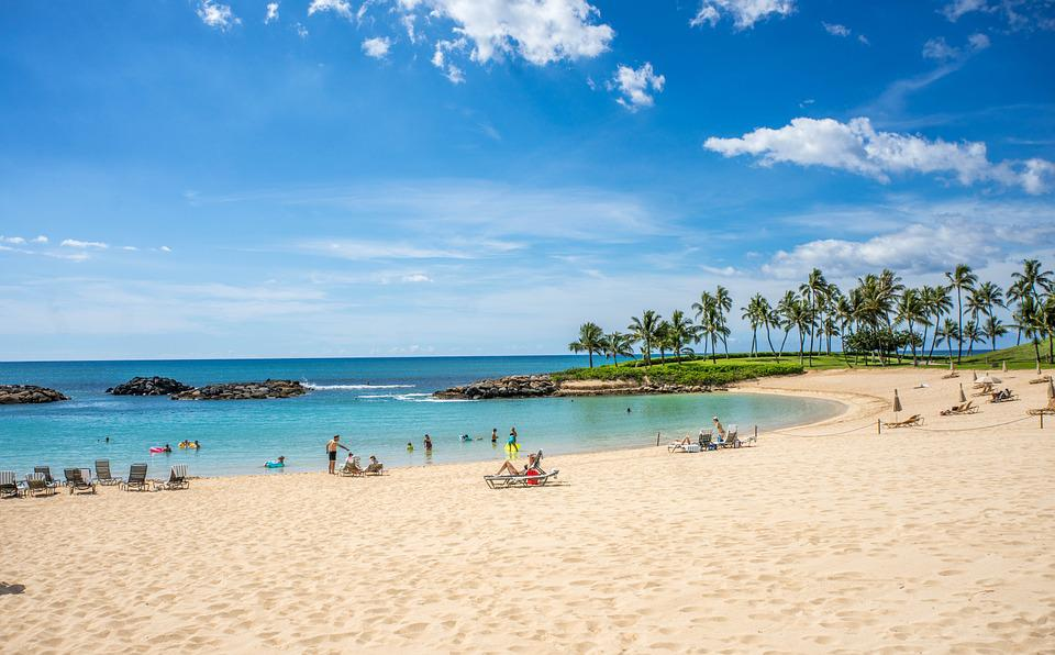 Lagoon, Ko Olina, Hawaii, Oahu, Ocean, Clouds, Coast