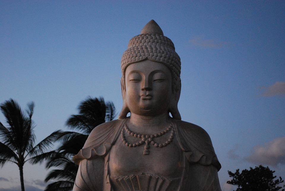 Buddha, Hawaii, Statue, Carving, Buddhist, Hawaiian