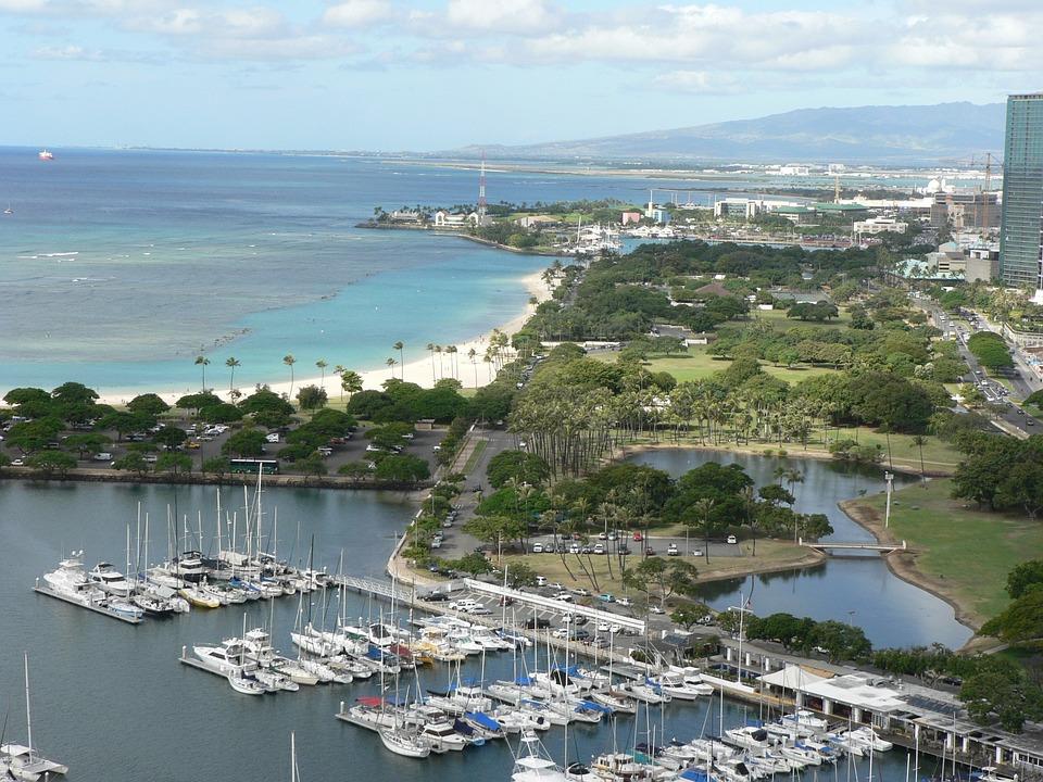 Honolulu, Waikiki, Hawaii, Harbor, Oahu, Ocean, Water