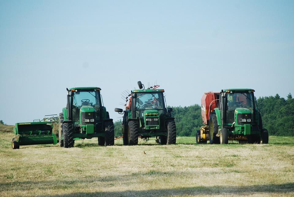 Farm Life, Tractors, Hay