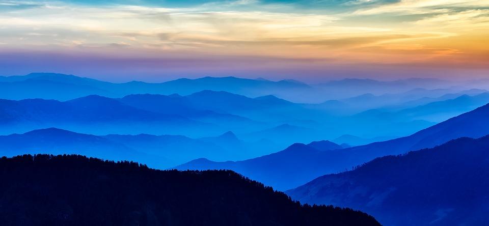 Nepal, Sunrise, Morning, Mountains, Fog, Mist, Haze