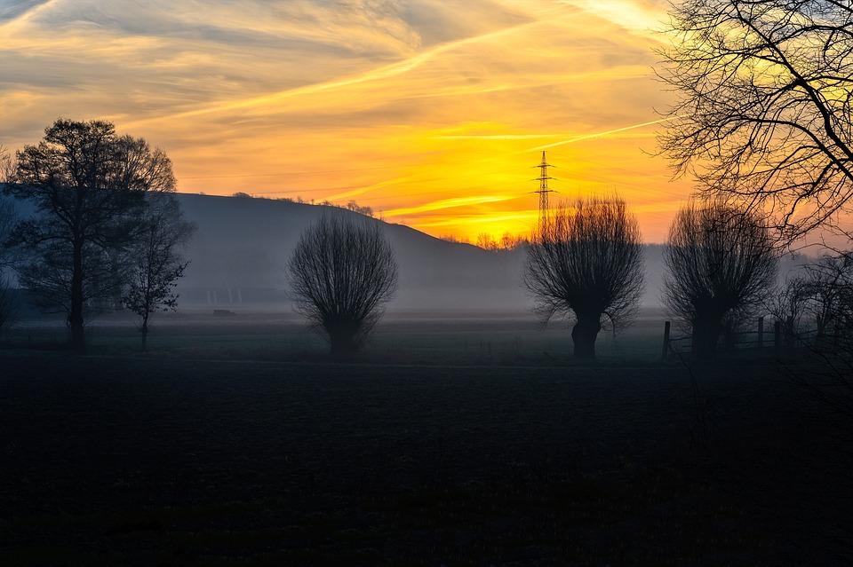 Sunrise, Morning, Haze, Fog, Landscape, Nature, Sky