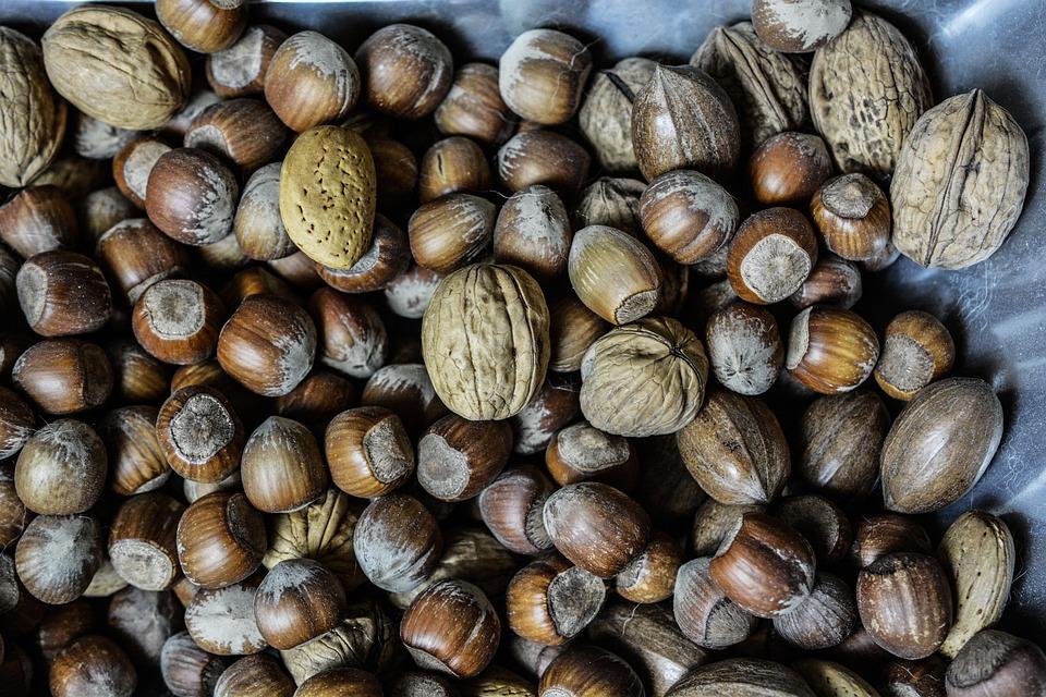 Nuts, Hazelnuts, Walnuts, Food, Healthy, Vegetarian