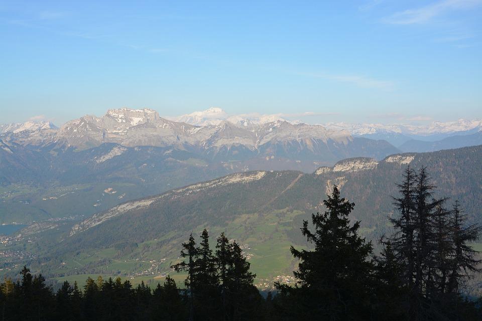 Mountain Scenery, Picture, Hazy Landscape, Haute-savoie