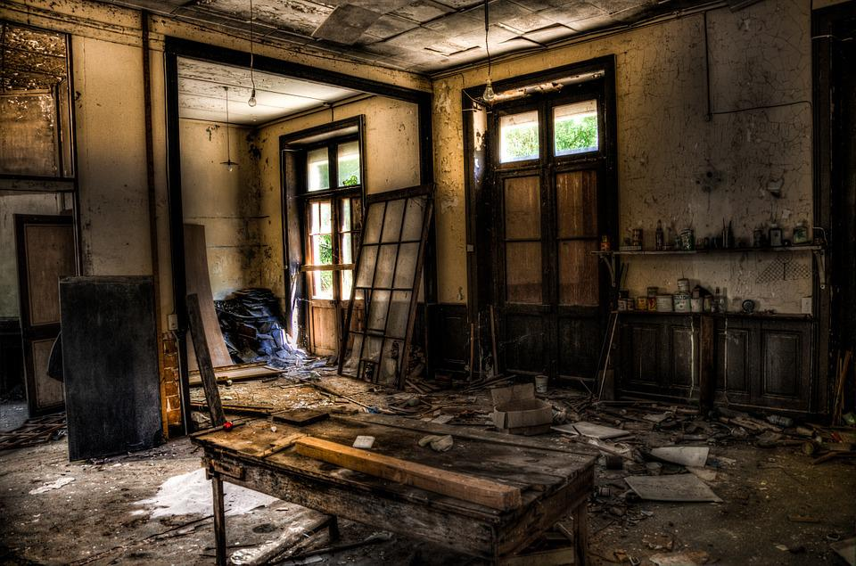 Abandonded, Building, Room, Interior, Hdr, Window