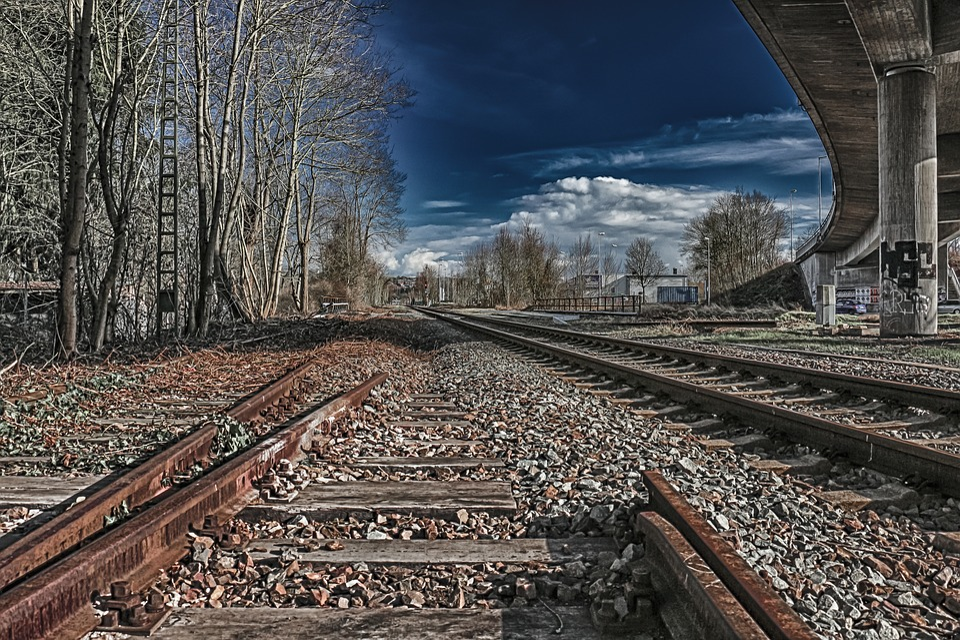 Railway Line, Railway, Train, Hdr, Rails, Railways