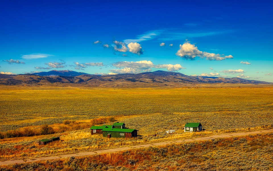 Wyoming, Ranch, Mountains, Hdr, America, Prairie