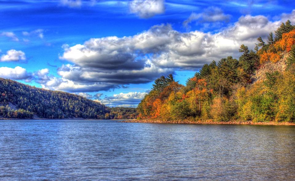 Wisconsin, Devil's Lake, Clouds, Sky, Landscape, Hdr