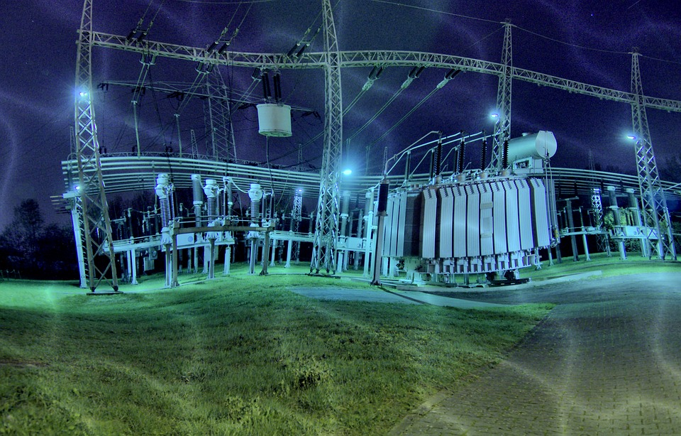 Substation, Hdr, Creepy, Night, Surreal, Gloomy