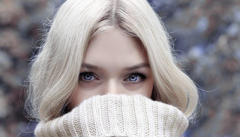 Woman, Blonde, Look, Looking, Blue Eyes, Face, Head