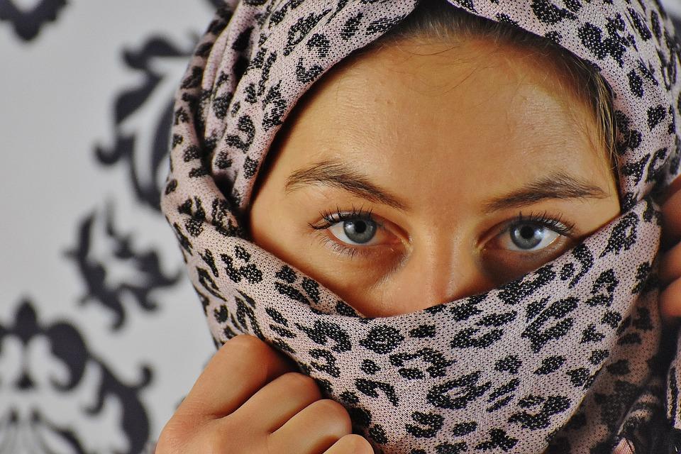 Woman, Headscarf, View, Eyes, Portrait, Face, Head