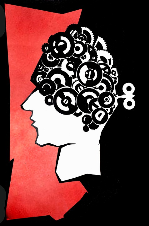 Head, Mechanism, Red, Poster