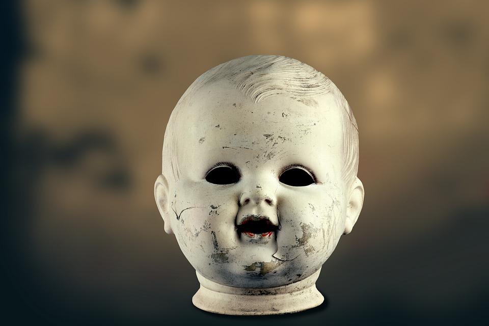 Doll, Head, Old, Antique, Broken, Jumped, Morbid