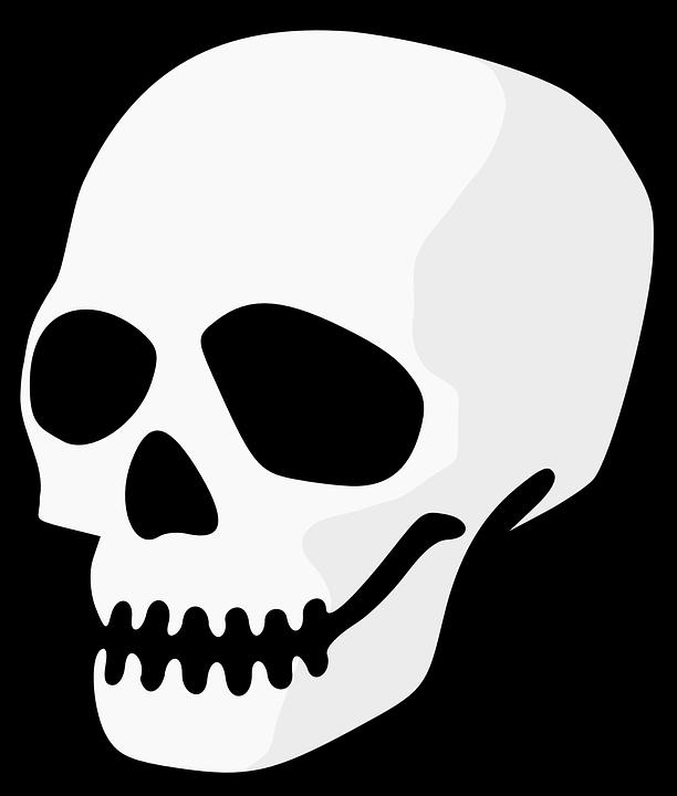 Skull, Head, Dead, Human, Skeleton, Symbol, Horror