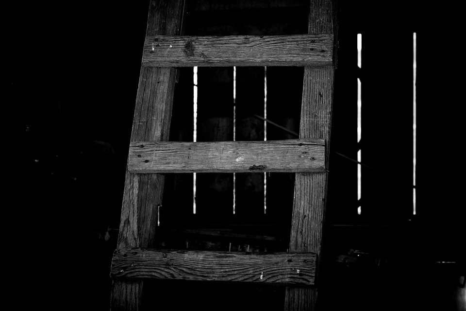 Head, Wooden Ladder, Staircase, Wood, Rise
