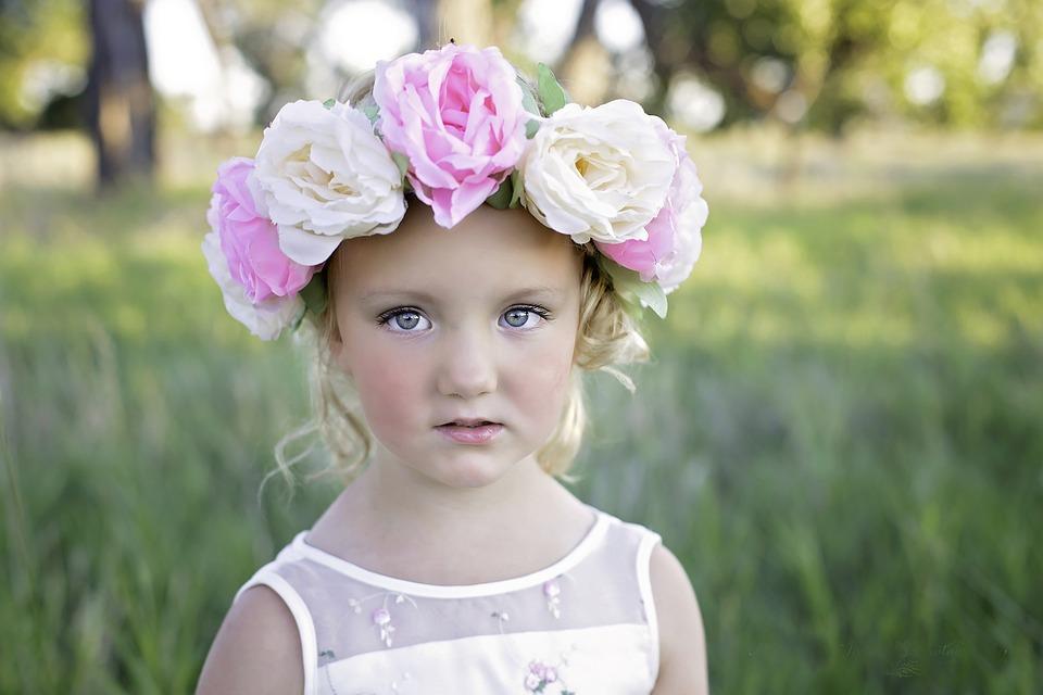 Flower, Headband, Girl, Cute, Summer, Portrait