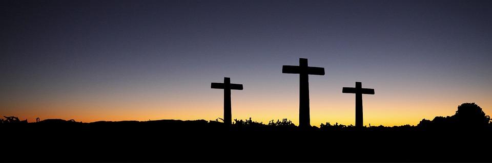 Banner, Header, Easter, Cross, Sunset, Sunrise, Hill