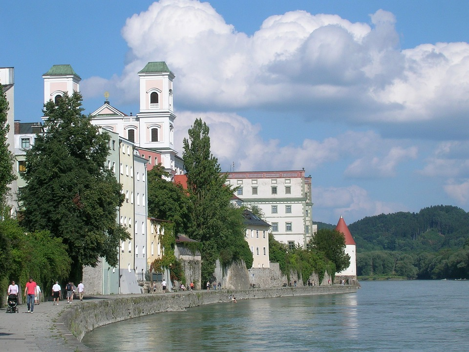 Passau, Danube, Headland, Old Town, Building, Tower