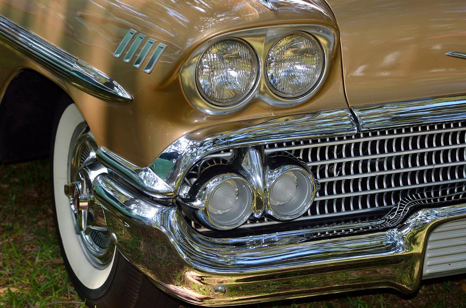 Car, Headlight, Classic, Chrome, Drive, Wheel, Vehicle