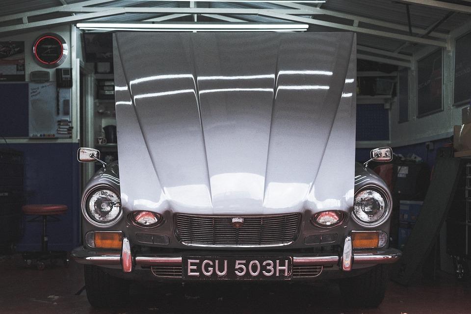 Car Garage Vintage Light Headlight Bumper Old