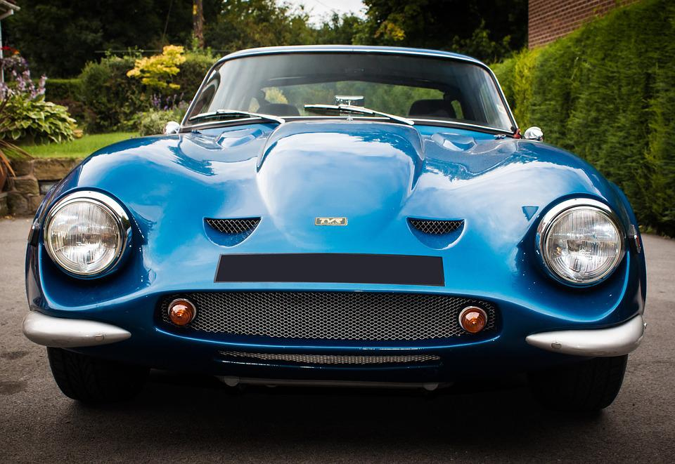Classic Car, Tvr, Car, Headlights, Car Photography