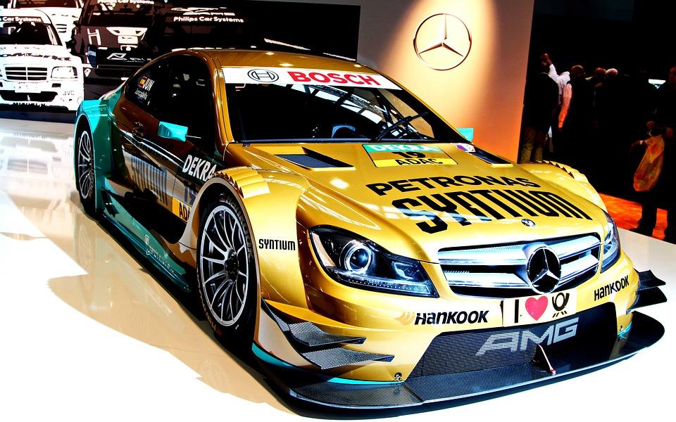 Mercedes, Machine, Speed, Exhibition, Headlights, Car