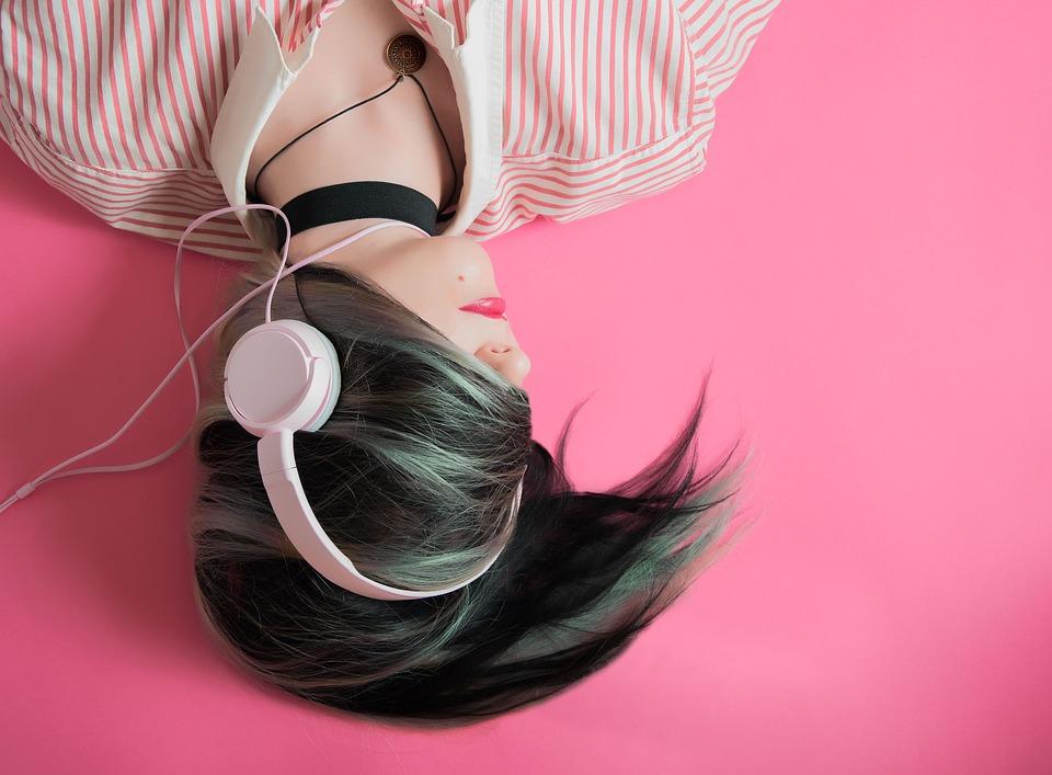 Girl, Music, Fashion, Listen, Headphones, Headsets